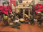 Retired 16PC Living Home Christmas Nativity Set Fine Porcelain Handcrafted Large