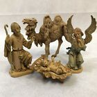 Vintage FONTANINI Depose Italy NATIVITY Set Christmas Angel Jesus Manger 1983