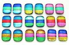 MATCHING PAIR Lot 18 pcs EARRINGS HANDMADE DICHROIC FUSED GLASS BD18 CABOCHON