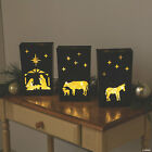 3 Pack Nativity Scene Luminaries Metal Outdoor Indoor Christmas Decorations NEW