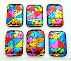 Lot 6 pcs RECTANGLE DICHROIC FUSED GLASS pendant L2 CABOCHON HAND MADE