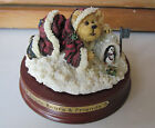Boyds Large Christmas Candle Topper---Kris Kringle & Waddles with stand