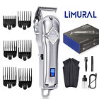 Limural Professional Hair Clippers Cutting Machine Barber Salon Trimmer Kit Men