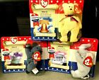 BEANIE BABIES AMERICAN TRIO 2000 RIGHTY, LEFTY & LIBEARTY IN O/G PACKAGING!!!