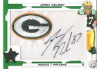 Jordy Nelson 2008 Leaf Rookie Stars Emerald Autograph Packers Patch #4 5 RC AUTO