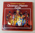 EZE Form Aaron Supply Co Inc Stained Glass Look Christmas Nativity Scene VTG NIB