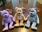 """Beanie Baby/ Babies-Lot Of 3  each 9""""  Yours Truly, Dearest, Issy (Bangkok)"""