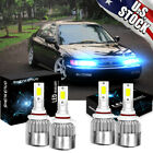 4x 8000k LED Front Headlight Bulbs Kit for Honda Accord 1997 2007 High Low Beam