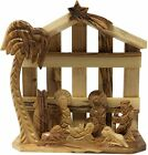 Olive Wood Christmas Ornament Nativity Scene Handcrafted in The Holy Land