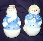Fenton SNOWMAN  SNOWLADY Signed and hand painted NIB