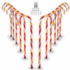 12pcs Christmas Candy Cane LED Lights Pathway Outdoor Garden Yard Xmas Decor