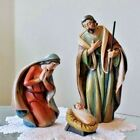 Holy Family Nativity Set 3 pc Statues Wood Carved Look Very Endearing 65 inch