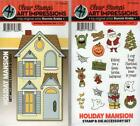New Art Impressions Rubber Stamp  Die HOLIDAY MANSION  ACCESSORY BOTH sets