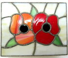 Stained Glass Trinket Jewelry Box Flowers Handcrafted Leaded
