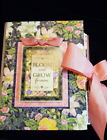 Handcrafted Pre made Scrapbook Album Bloom and Grow Floral Album