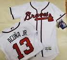 01213 Atlanta Braves RONALD ACUNA JR Authentic REAL GAME Flex Base JERSEY New