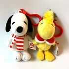 TY Beanie Babies Peanuts SNOOPY and WOODSTOCK WINTER Clips BNWT