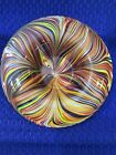 STUNNING RARE SOMMERSO CENTERPIECE BOWL WITH AN ABUNDANCE OF MULTI COLOR LINES