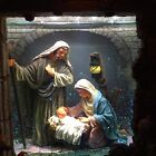 Kirkland Musical Windowpane Waterglobe Nativity Oh Holy Night Lighted with Timer