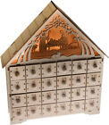 Traditional Wooden Christmas Countdown Advent Calendar  Light Up Nativity