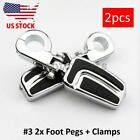 Chrome Highway Foot Pegs Mount for Harley Davidson Road King Dyna Softail Custom
