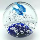 Dolphin Art Glass Paperweight Hand Blown