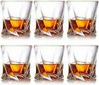 Crystal Whiskey Glasses Set of 6 Scotch Glasses Tumblers for Drinking Bourbon