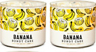 BATH AND BODY WORKS BANANA BUNDT CAKE 3 WICK SCENTED CANDLE 145 OZ SET OF 2