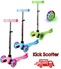 3 Flash Wheel Scooter for Boys  Girls Kids Ages 2 6  4 Adjustable Height