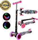 Scooter Led Flash Wheels For Kids 3 Wheel Kick Scooter For Toddler Girls Boys