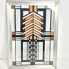 Frank Lloyd Wright Collection Mini Stained Glass Hanging Decor Earth Tones