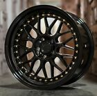 18x85 Aodhan AH02 5x120 +35 Gloss Black 18 Wheels Set 4 Fit BMW 325 328 Z4 Z3