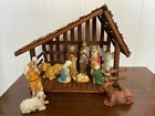 Nativity Scene Set 12 Piece With Stable