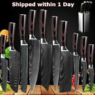 10 Pcs Kitchen Knives Set Damascus Pattern Stainless Chef Knife with Knife Block