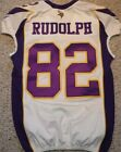 MINNESOTA VIKINGS KYLE RUDOLPH AUTHENTIC GAME CUT JERSEY 2012 SIZE 48 LINE.