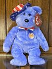 """2005 Ty Beanie Baby of the Month for July, """"Founders,"""" 8 1/2"""" Tall, Patriotic"""