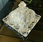 EAPG US GLASS OMNIBUS AKA KEYSTONE PATTERN COVERED BUTTER DISH