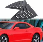 Pair Matte Black Side Window Louvers Sun Shade Cover for Chevy Camaro 2010 2015