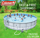 Coleman Power Steel 22 x 52 Swimming Pool Set LADDER COVER PUMP INCLUDED
