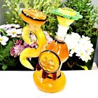 HONEY FLOWER JAR BUBBLER COLLECTIBLE TOBACCO GLASS SMOKING HERB BOWL