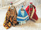 CLEARANCE Vintage 3 Wise Men Christmas Holiday Nativity Set Bottles Decorative