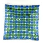 Fused Art Glass Basketweave Plate