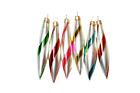Vintage Rainbow Glass Ornaments Candy Cane Striped Glass Ornaments