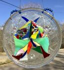Butterfly stained glass fused glass mosaic Suncatcher Moth Butterfly