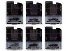 BLACK BANDIT SERIES 24 SET OF 6 CARS 1 64 DIECAST MODELS BY GREENLIGHT 28050