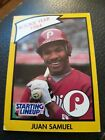 1989 Starting Lineup Juan Samuel Phillies Baseball Card