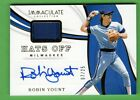 2019 Immaculate ROBIN YOUNT Hats Off RELIC PATCH AUTO # 25 Brewers Autograph