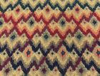 Traditional Bargello petite Chevron Tapestry Curtain Upholstery Fabric