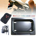 Motorcycle Scooter Moped USA Remote License Plate Cover Frame Shutter Curtain