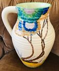 """Large - 12"""" Clarice Cliff  Hand Painted Viscaria Lotus Jug -  early 1930s"""